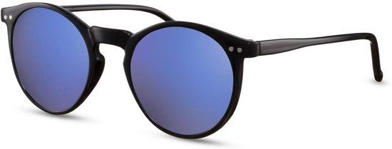 6d28376e361907 Cheapass Zonnebrillen - Ronde zonnebril - Goedkope zonnebril - Blauwe  spiegelglazen