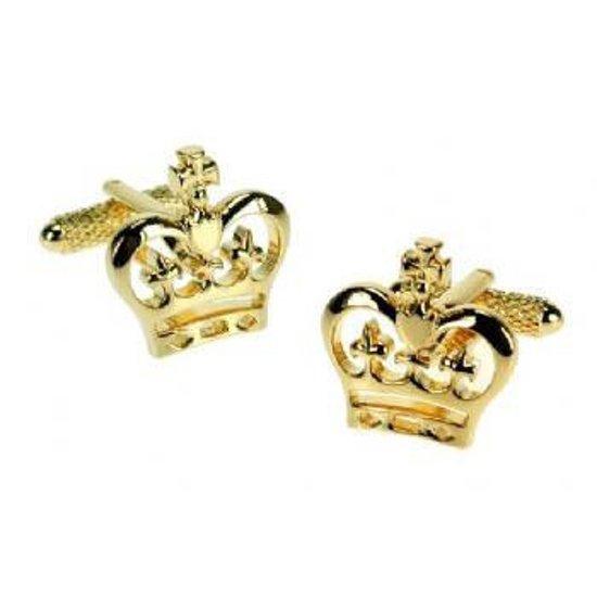 Manchetknopen Gouden Britse Kroon