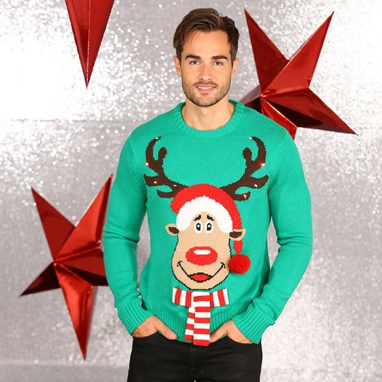 Foute Kersttrui Led.Bol Com Kerst Trui Met Lampjes Rudolf Het Rendier Trui Als Foute