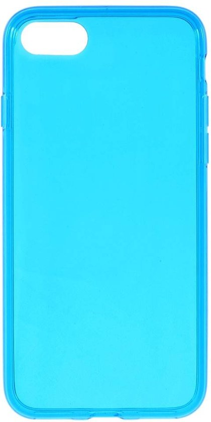tpu softcase iphone 7 8 blauw transparant