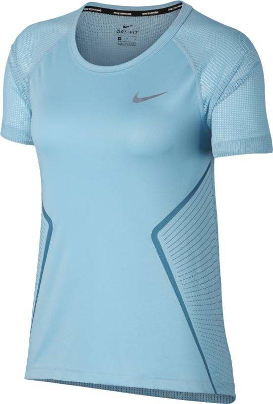 Nike Dry Miler Top Short Sleeve Gx Sportshirt Dames - Ocean Bliss/Noise Aqua/(Reflec