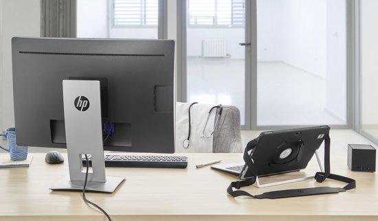 HP EliteDisplay E240c 23.8'' Full HD LED Mat Zwart, Zilver computer monitor