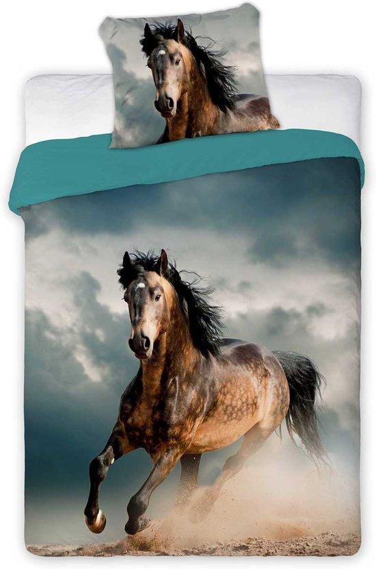 Paard dekbedovertrek  (Best Friends) - eenpersoons 140 x 200 + 1 sloop