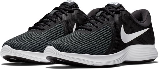 Nike Revolution 4 EU Sneakers Dames - Black/White-Anthracite - Maat 37.5