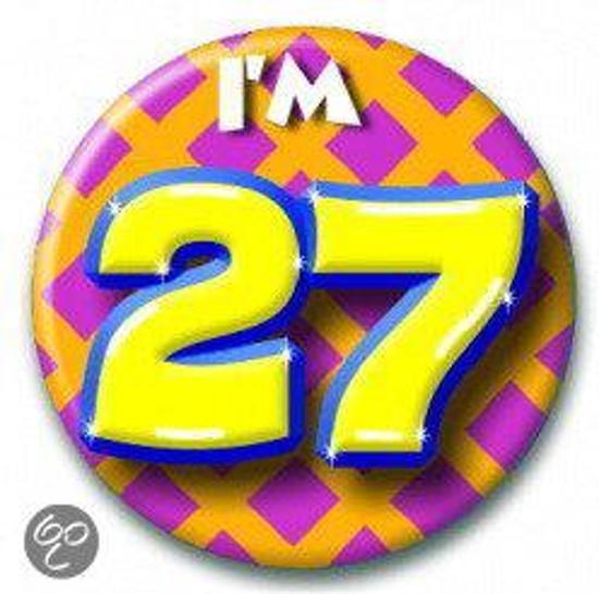 Button 27 jaar (55 mm)