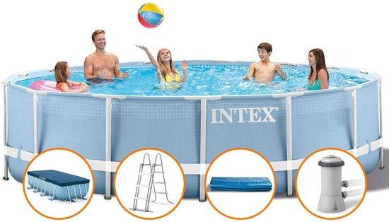 Intex Prism Frame Opzetzwembad Met Accessoires 457 X 84 Cm