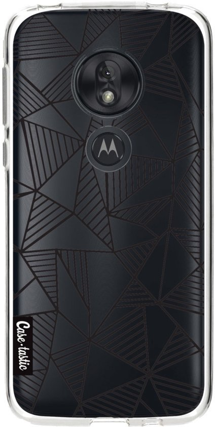 Casetastic Softcover Motorola Moto G7 Play - Abstraction Lines Black Transparent