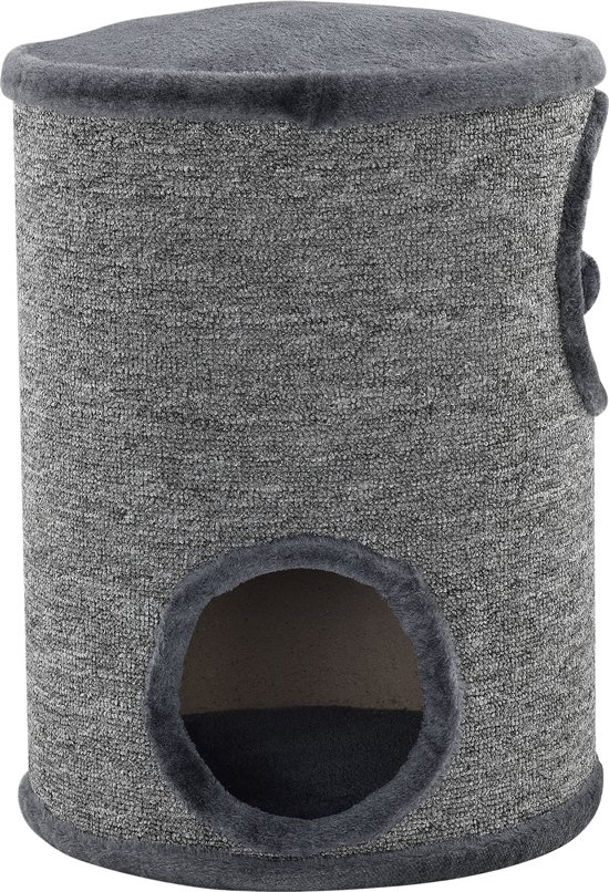 [en.casa]® Krabton - Krabpaal - 50 x 37cm - grijs