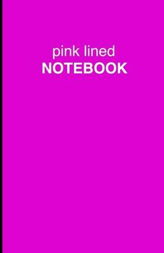 Pink Lined Notebook