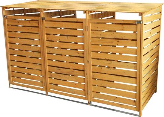 T Mech Driedubbele Containerberging Hout Kliko Ombouw Container Kast Voor Max 240l Afvalbak Afsluitbaar