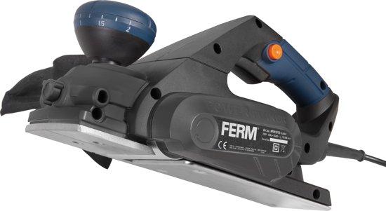 FERM Schaafmachine - 650W - Softgrip - 8 instelbare schaafdieptes - Omkeerbare messen - Incl. parallelgeleider en opvangzak