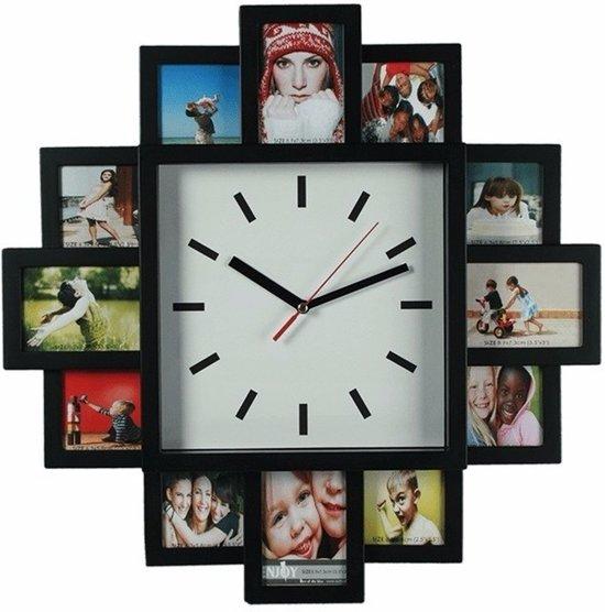 Bolcom Wandklok Met 12 Foto Frames