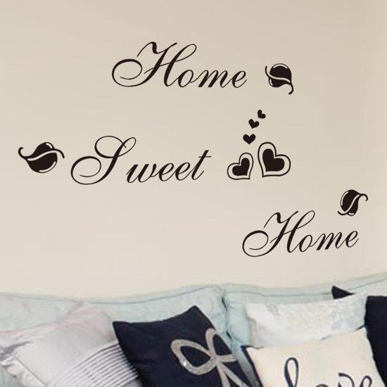 Muursticker Home Sweet Home.Bol Com Muursticker Tekst Home Sweet Home