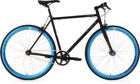 """Ks Cycling Fiets Fixie fitnessbike 28"""" Pegado zwart-blauw -"""