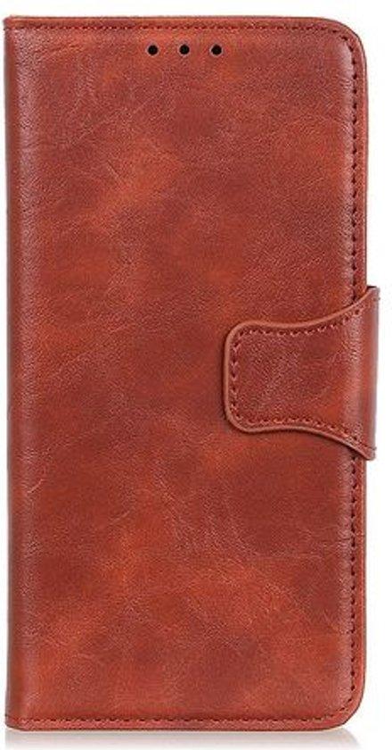 Shop4 - Samsung Galaxy A50 Hoesje - Wallet Case Cabello Echt Leer Bruin
