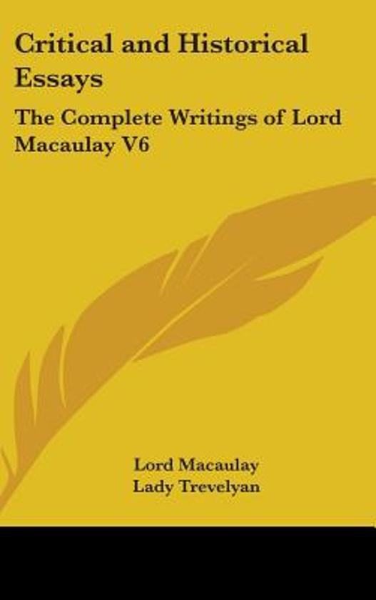 critical and historical essays lord macaulay