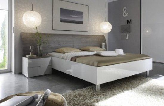 bol.com  Benvenuto Design Mela Bed Grijs Eiken 160x200  Baby