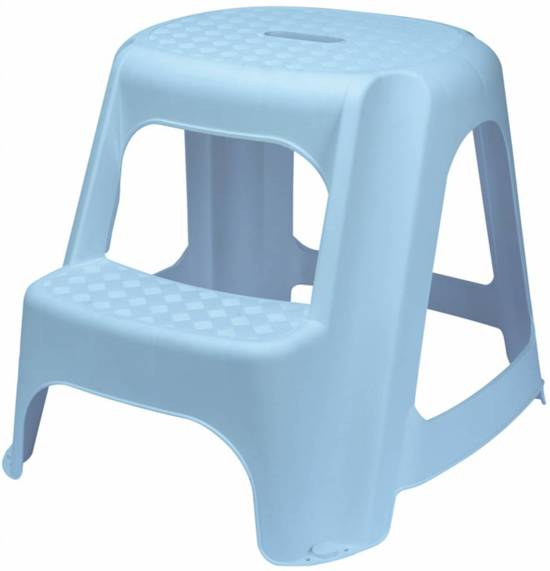 Remarkable Bol Com Draper Blauwe Plastic Two Step Stool Cjindustries Chair Design For Home Cjindustriesco