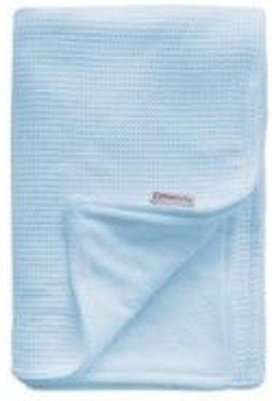 Deken Ledikant Blauw.Cottonbaby Wafel Ledikantdeken 120x150 Cm Blauw