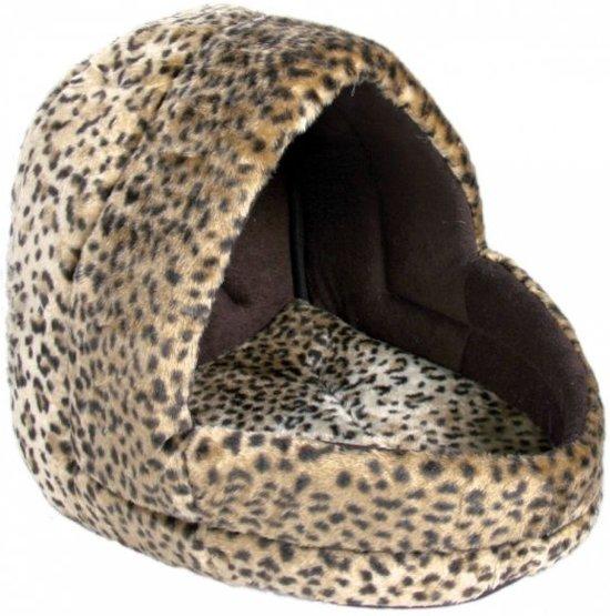 Trixie kattenmand iglo leo luipaardprint 35x35x40 cm