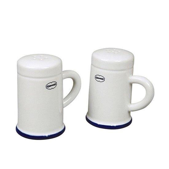 CABANAZ -  SALT & PEPPER SHAKER set/2 WH, ceramic Shaker, 100ml p/pc / L 8.5 X W 6.5 X H 8.5cm p/pc