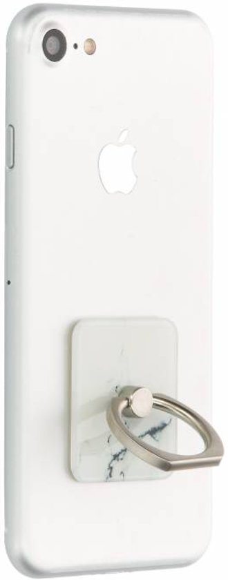 Witte marmer phone ring stand