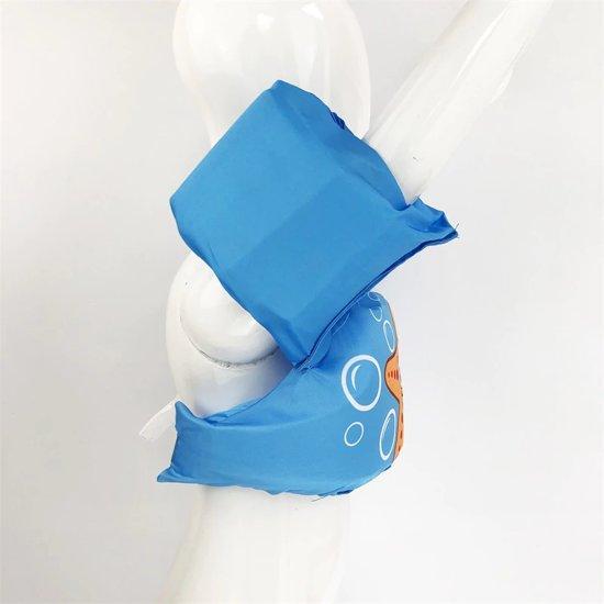 Zwemvest - Zeester Lichtblauw Design - One Size - Kind - 14-30 KG - 3-7 Jaar