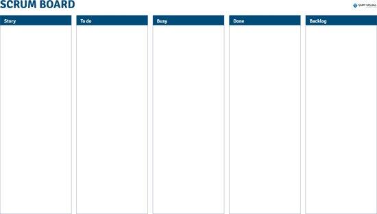 Sheets voor kliklijsten A3, Scrum