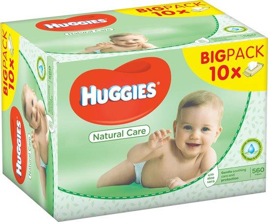Huggies Natural Care waterwipes Billendoekjes - 10x 56 stuks - Voordeelverpakking