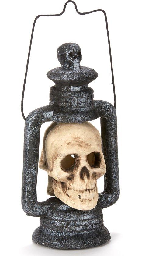 Lichtgevende doodskop lantaarn Halloween - Feestdecoratievoorwerp