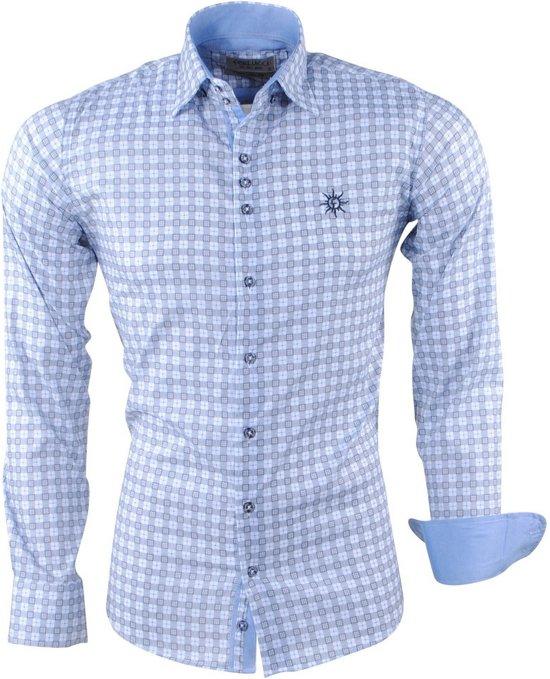 Ferlucci - Heren Overhemd - Geblokt - Puglia - Grijs