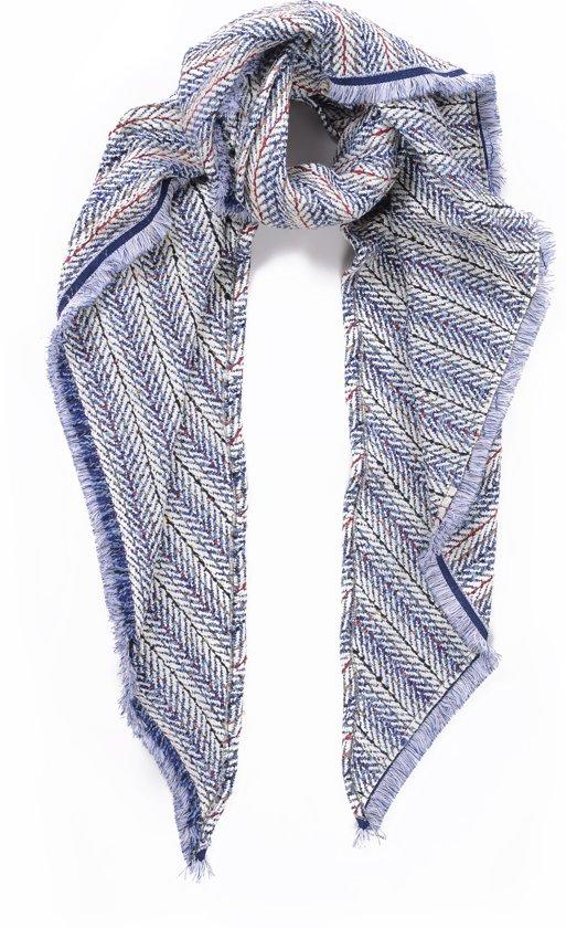 9f18295c8a2 bol.com | Driehoeksjaal | omslagdoek | Tweed | Blauw Wit | 210*135 ...
