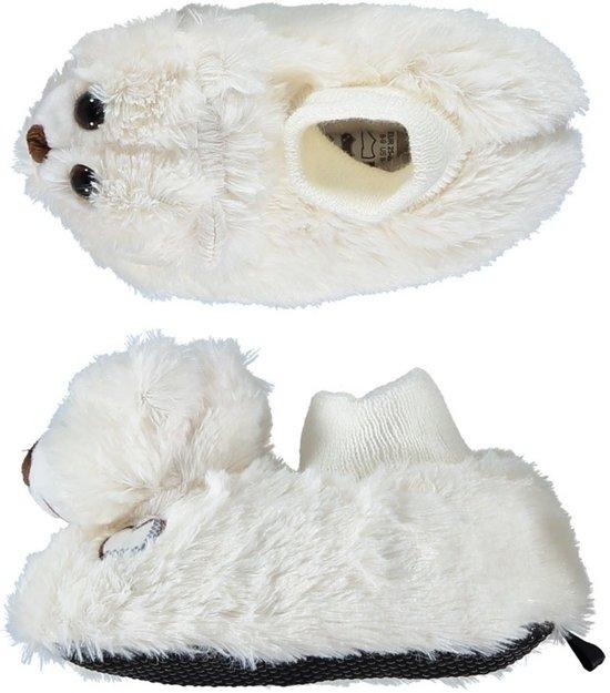 Kinder dieren pantoffels/sloffen witte beer 23-24