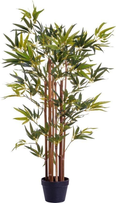 Bamboe | Bamboo | Kunstplant |met pot  |120 cm groen | kamerplant | kantoorplant
