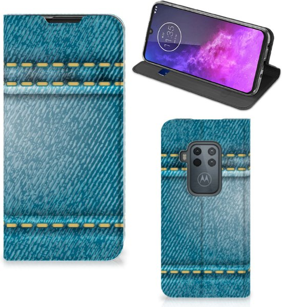 Motorola One Zoom Hippe Standcase Jeans