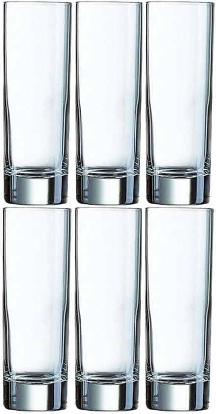 6x Longdrinkglazen 220 ml - 22 cl - Longdrink glazen - Water/sapglazen - Longdrink glazen van glas