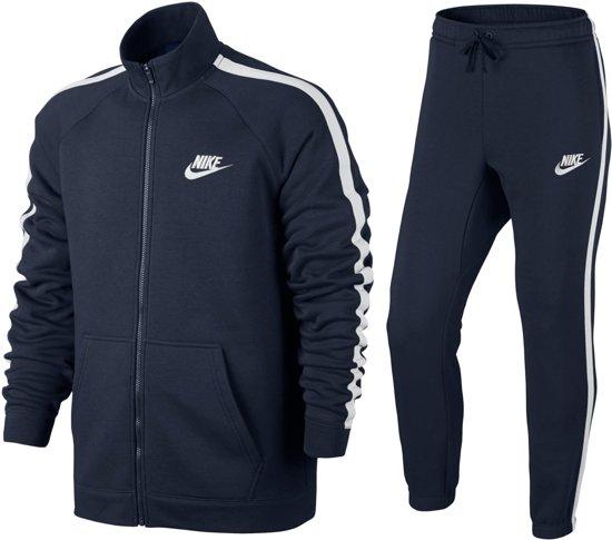 095cc23e72f Nike Sportswear Fleece Trainingspak Heren Trainingspak - Maat XS - Mannen -  blauw/wit