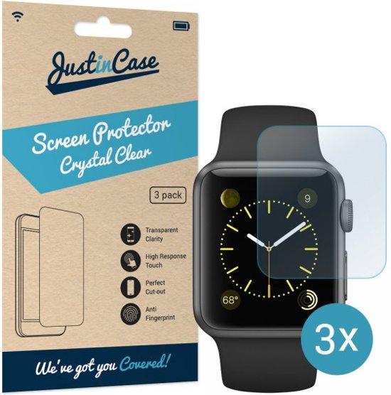Just in Case Screen Protector voor de Apple Watch 38mm - Crystal Clear - 3 stuks in Hemelum / Himmelum