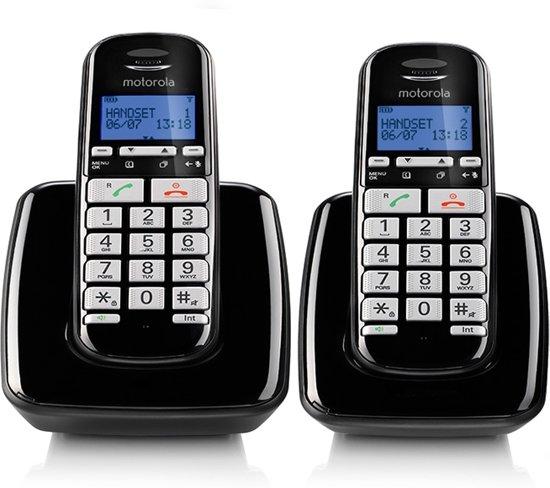 Motorola S3002 Uitgebreide Senioren Duo Set - NL - DECT Telefoon - Wit