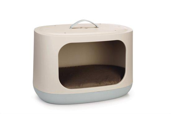 Curver Bunkbed Kattenmand - Grijs/Lichtblauw - 58 x 3 2x 50 cm