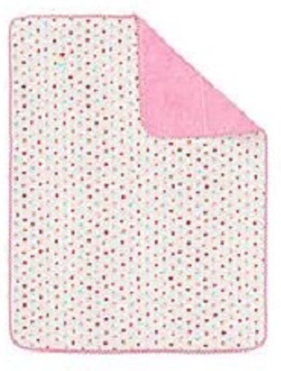 Lief Lifestyle! plaid 75x100 cm roze/wit