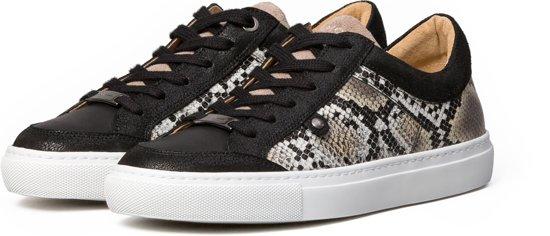 KUNOKA Alex 1.1a snake - Sneakers Dames - Zwart Slangenprint