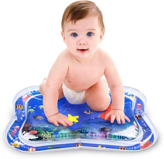 Afbeelding van Baby Opblaasbare Waterspeelmat - Hoge Kwaliteit - Baby Trainer - Water Speelmat - Baby shower - Kraamcadeau - Water speel mat - Tummy time - Speelkleed Aquamat - Speelgoed - watermat speelgoed
