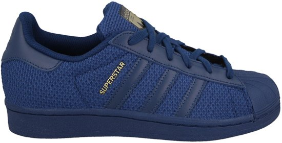 adidas superstar dames blauw