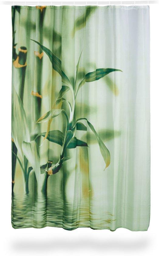bol   relaxdays douchegordijn bamboe stengels uit polyester
