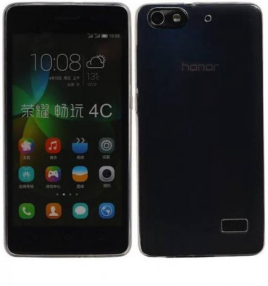 Mobieletelefoonhoesje.nl - Huawei Honor 4C Hoesje Transparant TPU Backcover Ultra-Thin in Catsop