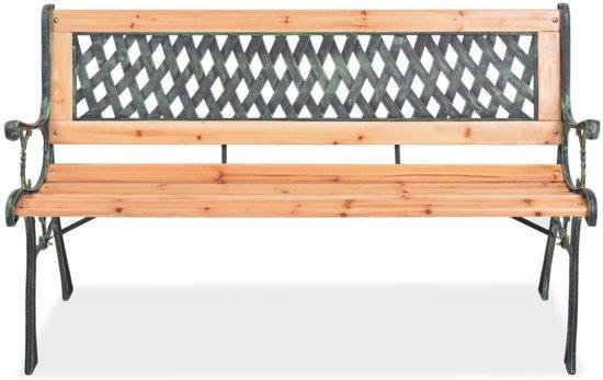 vidaXL Tuinbank 122 cm hout
