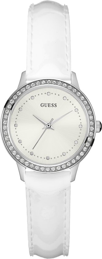 GUESS Watches Dames Horloge W0648L5 - leer - wit - Ø 30 mm