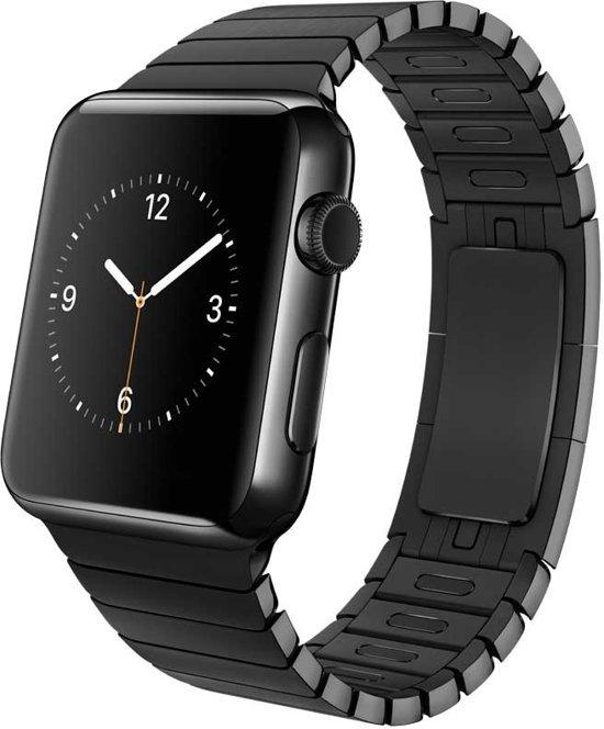 Schakelarmband met Vlindersluiting voor Apple Watch - Zwart - 42mm