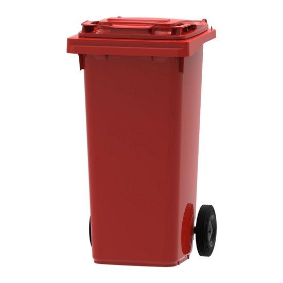 Afvalcontainer / Kliko / Mini Container kunststof 120 liter Rood